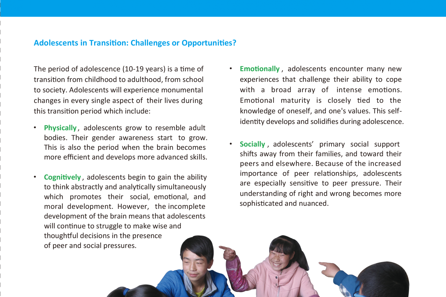 Education for Adolescents | UNICEF China