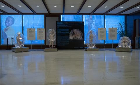 "On 21 November 2018, an exhibit titled ""Cyber Cocoon Kids: Bridging the information gap in the internet age"" in the foyer of UNICEF House."