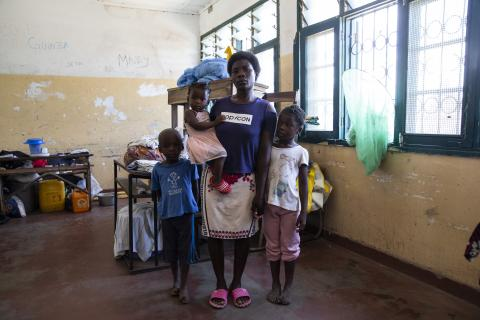 On the night on March 14, when Cyclone Idai ripped through Beira, Mozambique, Claudete and her husband bundled up their 3 children, and escaped to a nearby school, the Estoril Secondary School in Beira, and have been here ever since.